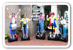 Clowns on Segway PT Tours and Adventure Tours in Yorktown Virginia